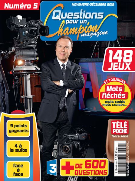Julien Lepers en couverture ! Magazine &quot&#x3B;Questions pour un Champion&quot&#x3B;