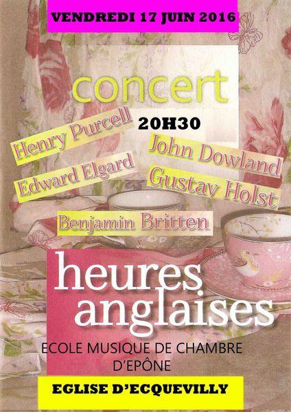 Vendredi 17 JUIN Concert à l'église d'Ecquevilly
