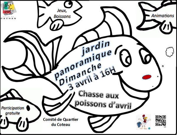 Chasse aux poissons dimanche 3 avril 16 heures