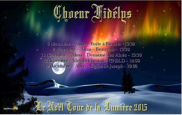 Le Noël Tour 2015 du Choeur Fidélys
