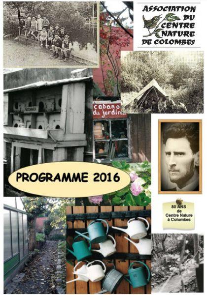 Programme 2016 association centre nature colombes