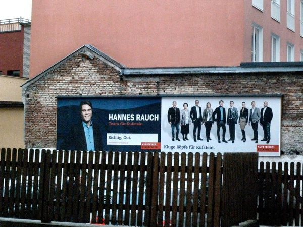 New Kufstein project art, or just obesessive election campaigning?