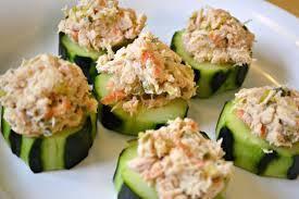 Une entrée sympa et fraîche : bouchées concombre et thon