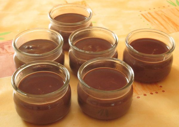 Danette au chocolat  fait maison