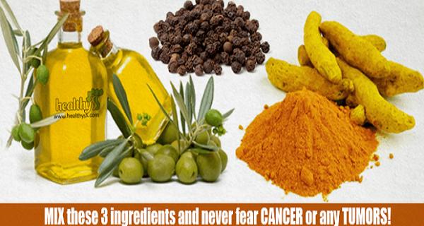 Mélanger ces 3 ingrédients et n'ayez jamais peur du cancer ou toute tumeur!