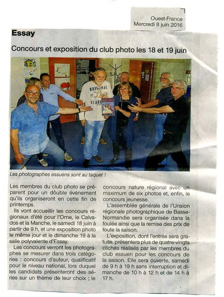 Le Photo Club dans le journal Ouest France