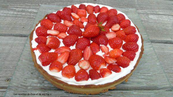 Tarte aux fraises à la Chantilly �