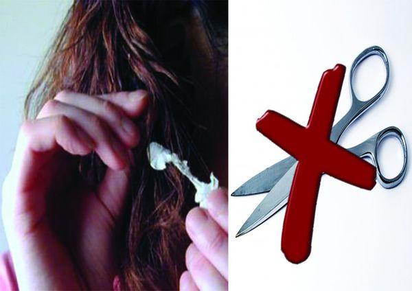 Comment enlever la gomme de vos cheveux? NO ciseaux!