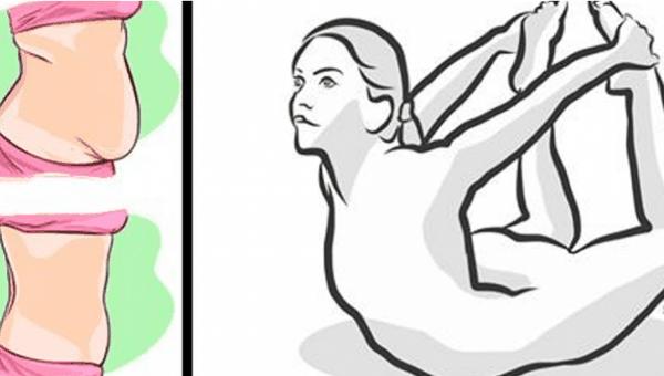 Avec ces 4 positions de yoga vous pouvez supprimer le dos et la graisse du ventre