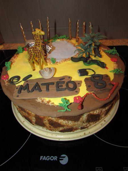 Gâteau Safari/jungle