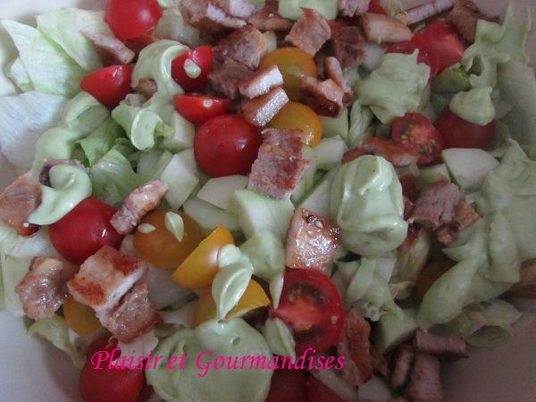 Salade Caesar, sauce à l'avocat