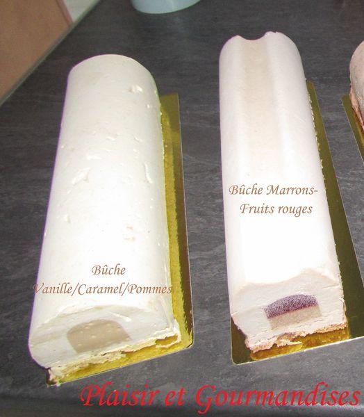 Bûche Vanille/Caramel/Pommes