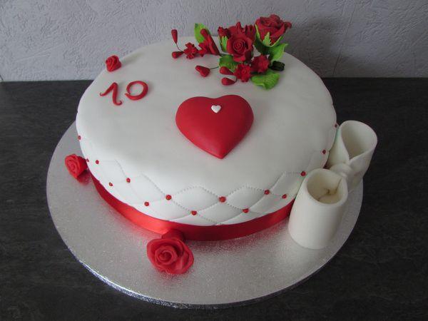 Gâteaux 10 Ans Amour!