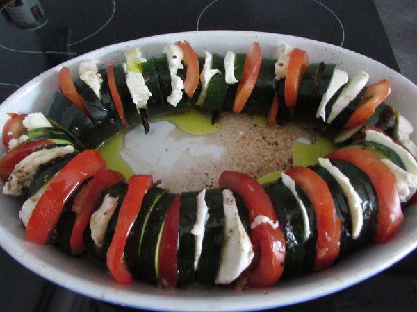 Courgette Tomate/Mozzarella/Pesto/Tapenade