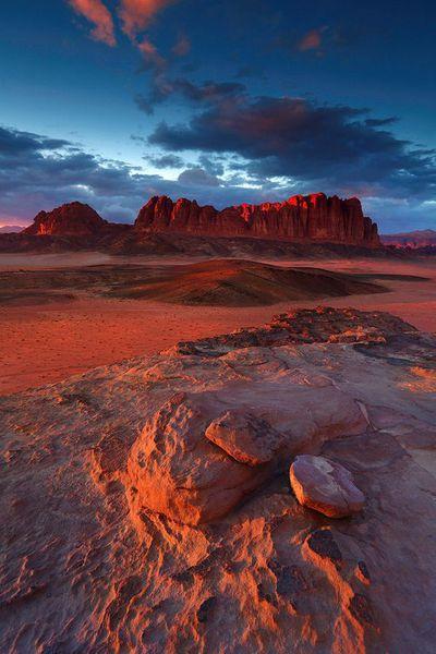Les couleurs du désert.