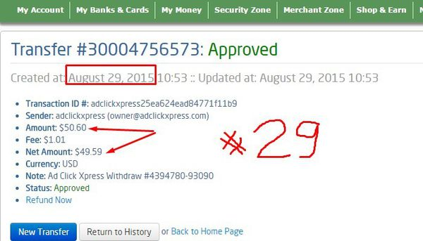 ACX definitely paying – no scam here..