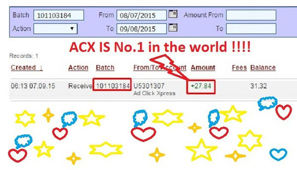 OH YES !!! ACX IS No.1 in the world !!!!