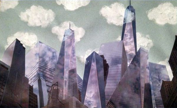 New York (collage photo : 50 cm x 29,5 cm)