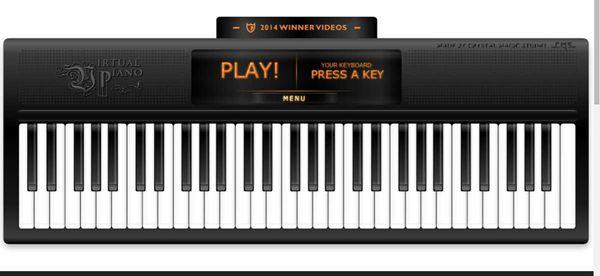 Avez-vous déjà jouer du piano? Vous pouvez le faire avec ce site