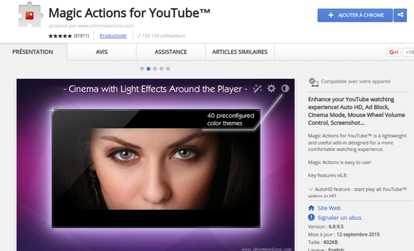 Magic Actions  le plus merveilleux ajout à YouTube