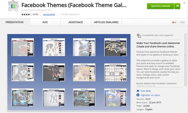 Comment créer et partager des thèmes Facebook en ligne