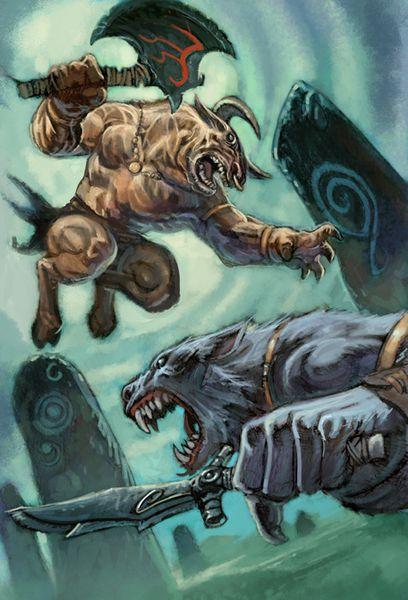 Minotaure vs Wolfen