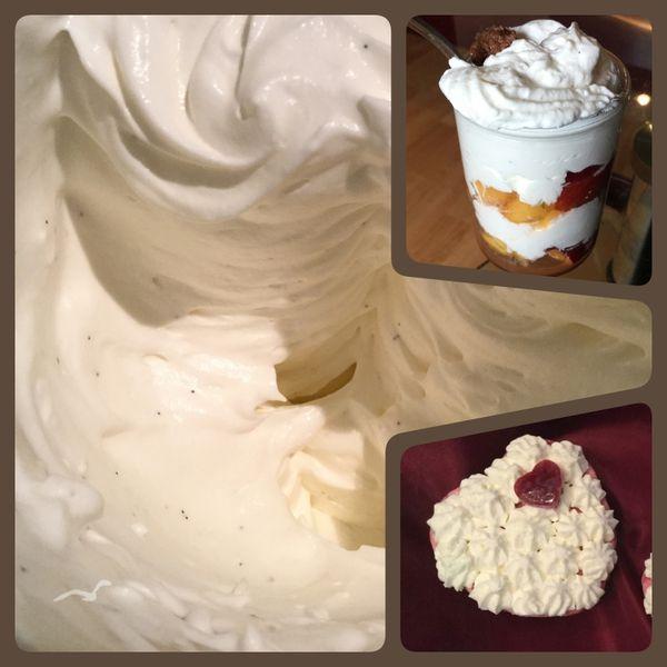 Crème Chantilly ou Crème fouettée?