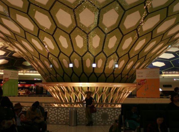 Séance photos pour Aurélie, à l'aéroprt d'Abu Dhabi