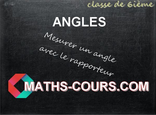 Mesure et vocabulaire des angles