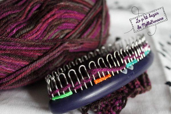 Mitaines au tricotin