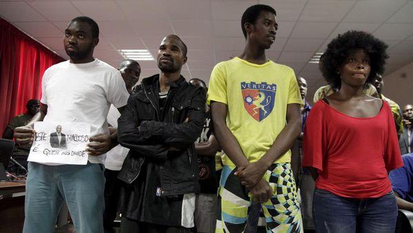 Quelques-uns des 17 opposants lors du prononcé du verdict, le 28 mars 2016, à Luanda
