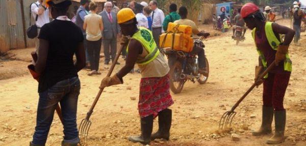 nettoyage du marché central de Bangui
