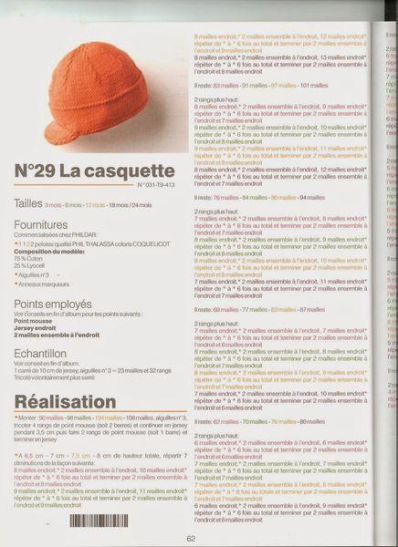 modèle bébé bonnet casquette partie 1