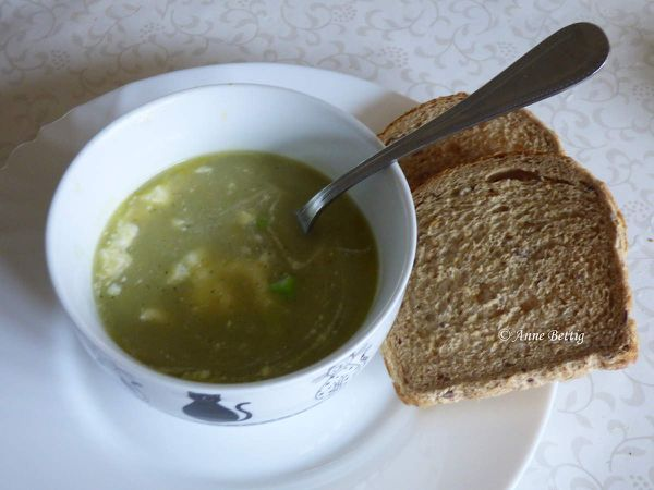 Soupe chicons, courgette