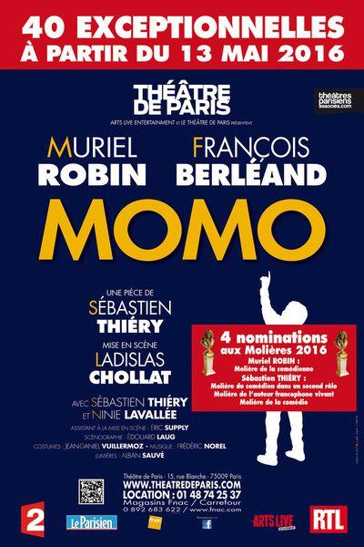MOMO au Théâtre de Paris avec Muriel Robin et François Berléand !