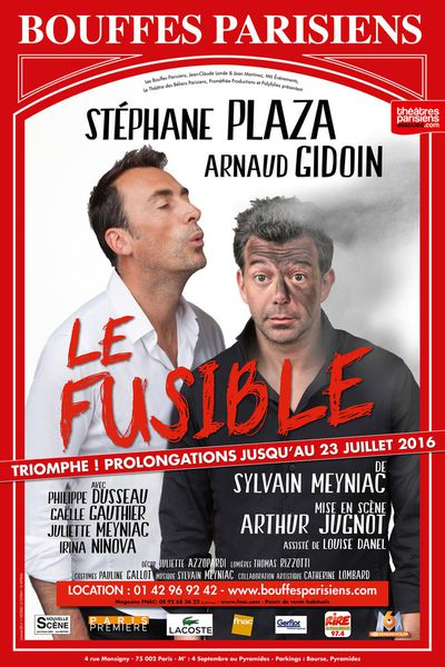Le Fusible au Théâtre des Bouffes Parisiens avec Stéphane Plaza et Arnaud Gidoin !