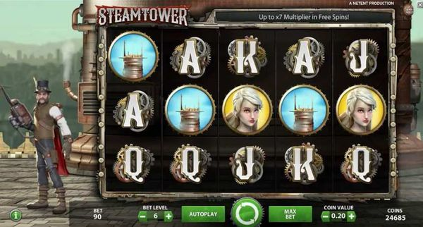NetEnt's Steam Tower slot review