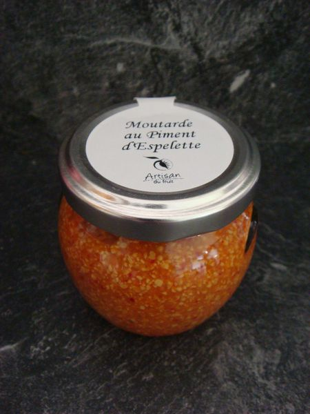 Moutarde au piment d'Espelette. Artisan du fruit.