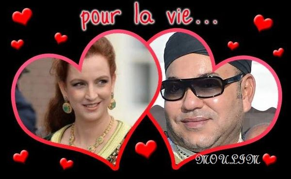 The king Mohammed 6 and his wife H.R.H Princess Lalla Salma