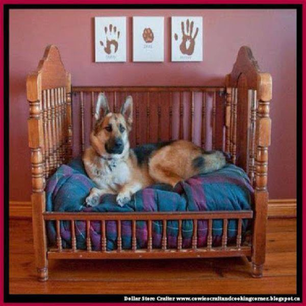 Turn An Old Crib Into A Dog Bed