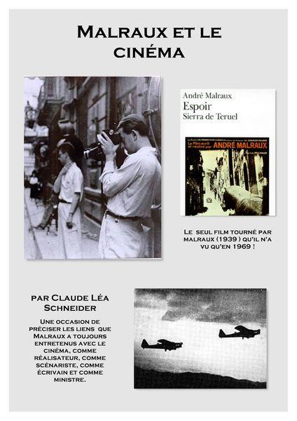 """Affiche """"Malraux et le cinéma"""""""