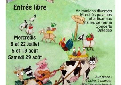 Marché Paysan festif 19 août 2015