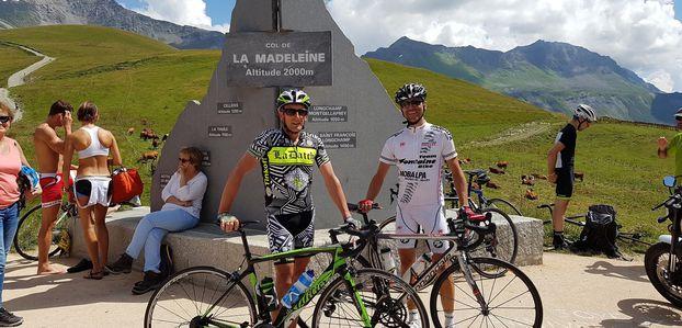 Cyclosportive la Madeleine dimanche 14 août avec Sébastien