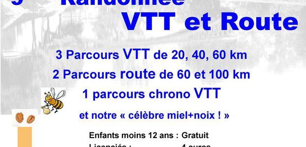 Informations Randonnée VTT et Cyclo Fil du Cens - Mardié - 12 Juin 2016