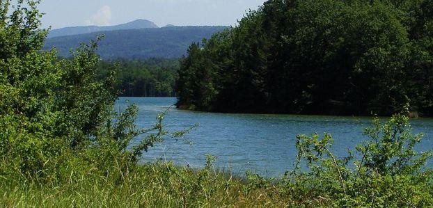 lac de Montbel : couleur été