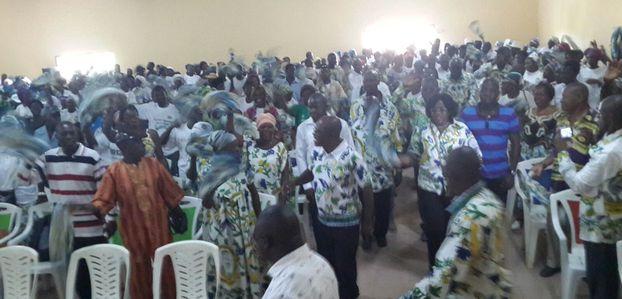 Tournée nationale du Parti Démocratique Gabonais: étape de la nyanga suite
