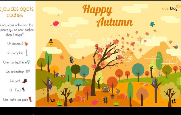 Jeu des objets cachés : Overblog fête l'automne !