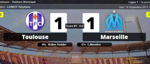 Toulouse 1-1 Marseille : L'OM arrache le nul dans la douleur