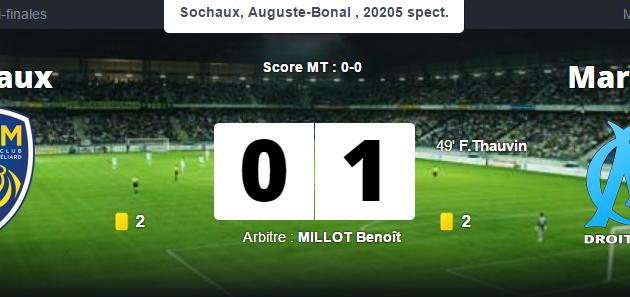 FC Sochaux 0-1 Marseille : En finale !