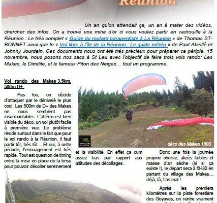 Vol rando, vol bivouac sur l'île de la Réunion...